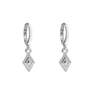 Earrings diamond silver