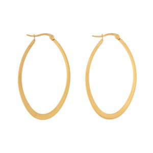 Earrings hoops oval statement large gold