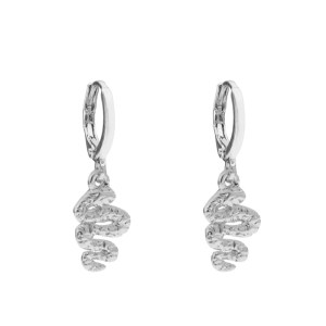 Earrings snake silver