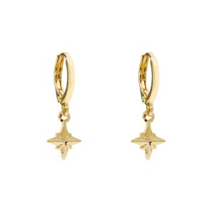 Earrings universe star gold