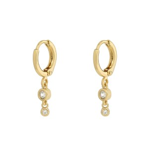 Earrings stones classy gold