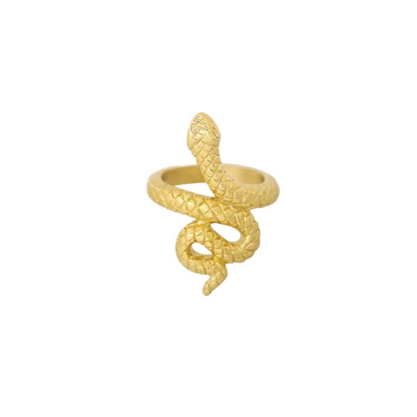 Signet ring snake gold