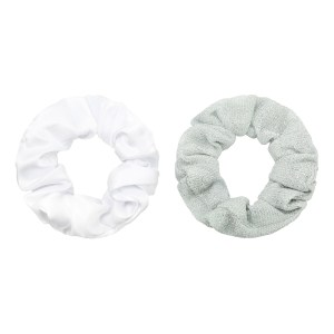 Scrunchie set glitter silver