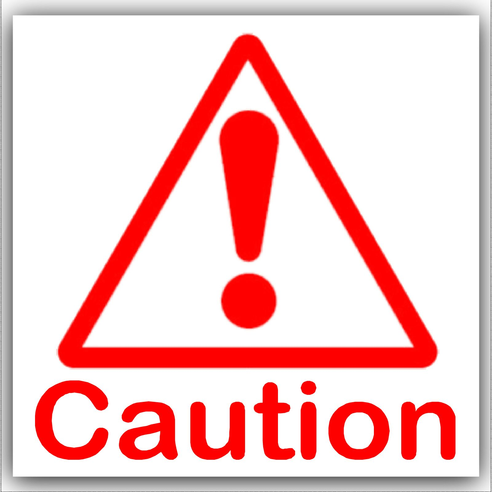 1 X Caution Symbol With Text Red On White External Self