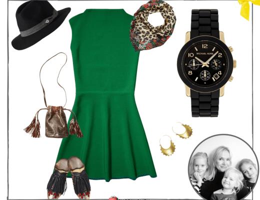 groene jurkje van Maison Scotch