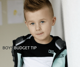 BUDGET FOR BOYS