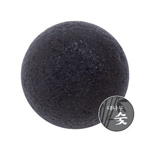 MISSHA Natural Soft Jelly Cleansing Puff #Charcoal