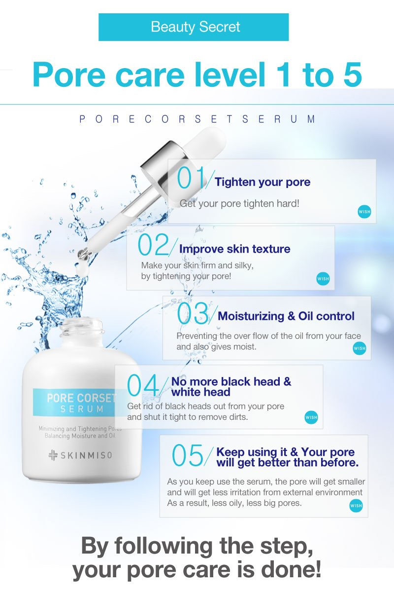 SKINMISO Pore Minimizing Serum - Miracle In 20 Minutes, Shrink The Size Of Pore & Rapid Effect On You Face, Pore Corset Serum
