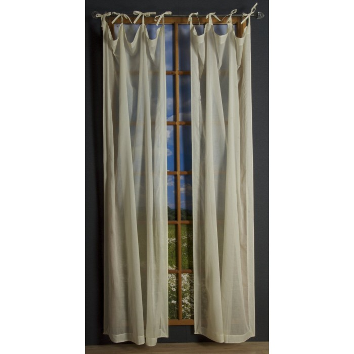 Voile Canopy And Tie Tab Panel