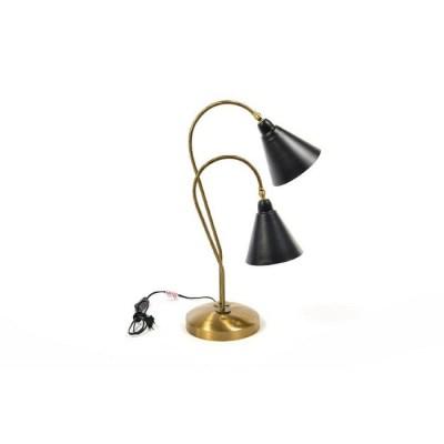"""LAMPADA DA TAVOLO 2 LUCI """"VINTAGE"""" IN METALLO CON"""