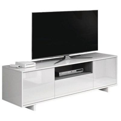 MOBILE TV ZAIRA 46X150X41 BIANCO LUCIDO/GRIGIO CEM