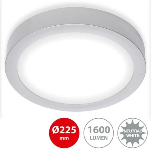 FIRE - APPLIQUE/PLAFONIERA DIAM. 22,5CM - LED 16,5WATT 1600LUMEN 4000K - CROMO SATINATO
