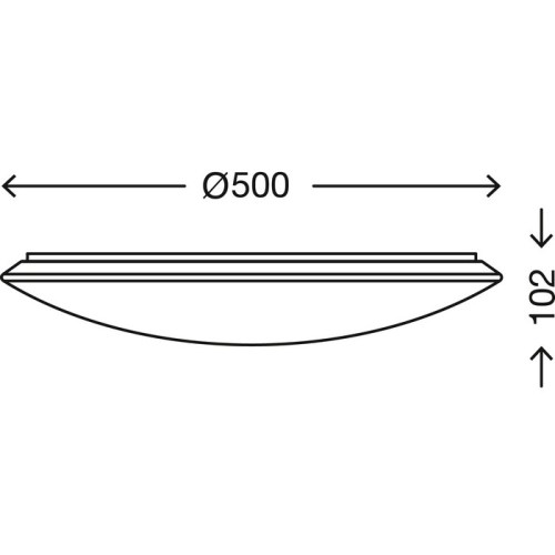 VERB - PLAFONIERA DIAM. 49,5CM 1 LED 50 WATT 5000 LUMEN - DIMMERABILE - EFFETTO CRISTALLI
