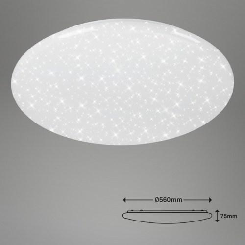 PLAFONIERA DIAM. 56CM 1 LED 50 WATT 4000 LUMEN - DIMMERABILE -EFFETTO CIELO STELLATO