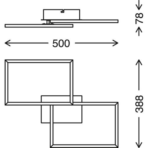 FRAMES - APPLIQUE/PLAFONIERA 50 X 39CM - 30WATT 3300LUMEN - CCT 2700K 5000K - DIMMERABILE