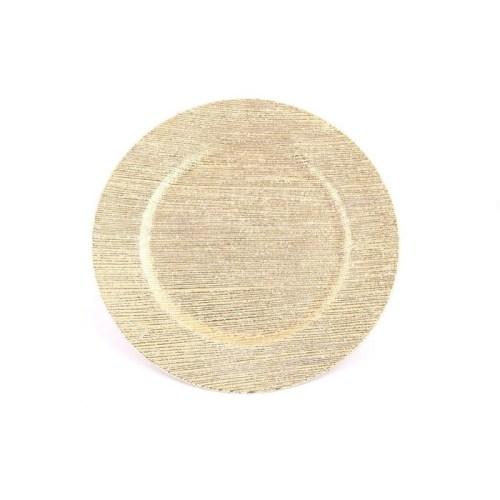 SOTTOPIATTO STRIPES MIRROR ORO IN PLASTICA D.33 C
