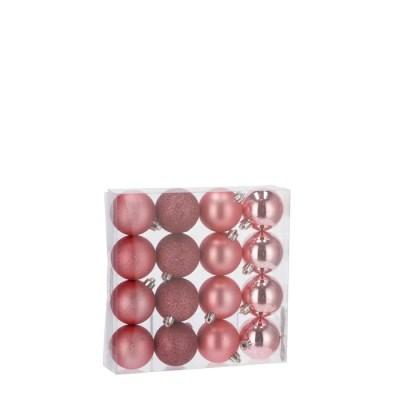 SET 16 PALLINE NAT ROSA A4F DIAM6