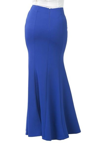 Royal Blue Maxi Skirt 1