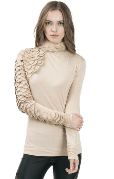 Nude Metrix Scale Sleeve Top
