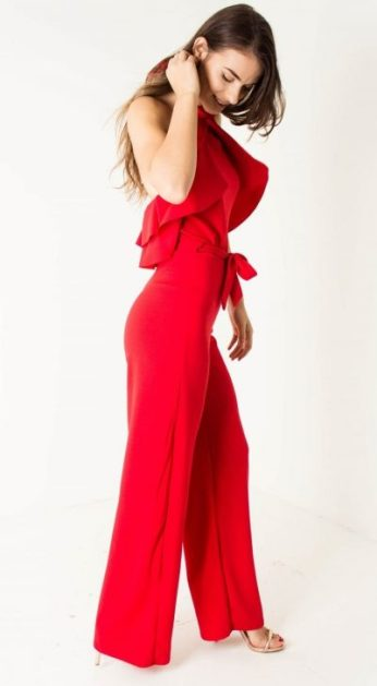 Red Belted Jumpsuit 2 (2)