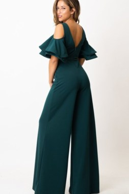 Avri Hunter Green Jumpsuit
