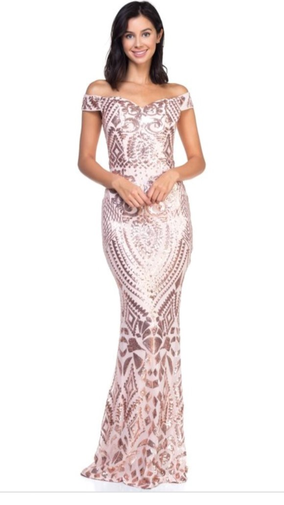 d847802a16929 Avery Champagne Rose Sequin Dress