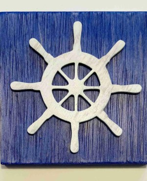 ship wheel nautical decor ocean decor ship wheel sign