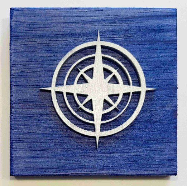 compass nautical decor ocean decor compass sign
