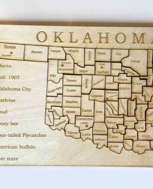 Oklahoma map learning puzzle