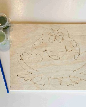 frog paint kit laser traced outlines