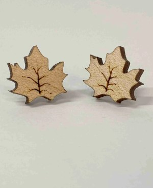 The Autumn stud laser engraved earring