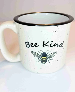Bee Kind camp coffee mug cup