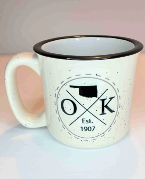 Oklahoma est 1907 camp coffee mug