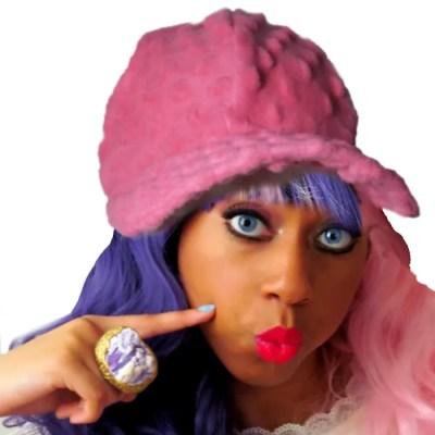 bubble gum felt hat front