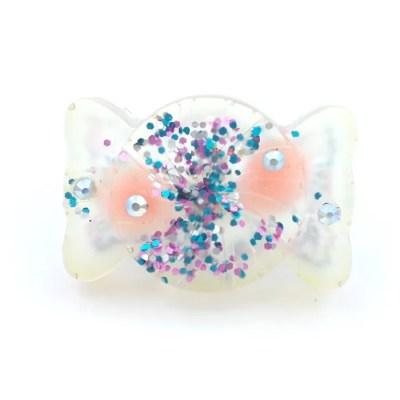 confettti pom pom candy ring