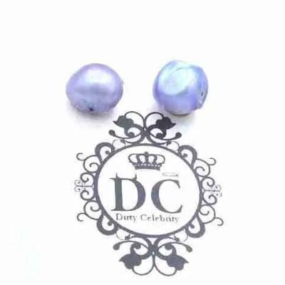 lavender pearl earrings