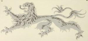 Vintage Lion Stencil