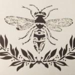 Bee & Laurel Stencil