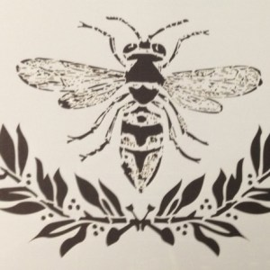 Bee & Laurel Stencil