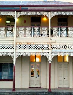 A gorgeous iron work balcony