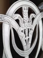 Detail showing Graphite wash