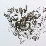 IOD roses stamp
