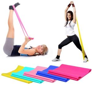 1.2m Elastic Yoga Pilates Rubber Stretch Exercise Band Arm Back Leg Fitness Tight Gym Sport Pull Stretch Equipment Drop Shipping - ShopeeBazar