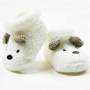 2018 Warm Newborn Socks Unisex Baby Boy Girls Infant Cute Bear Crib Warm Shoes NEW - ShopeeBazar