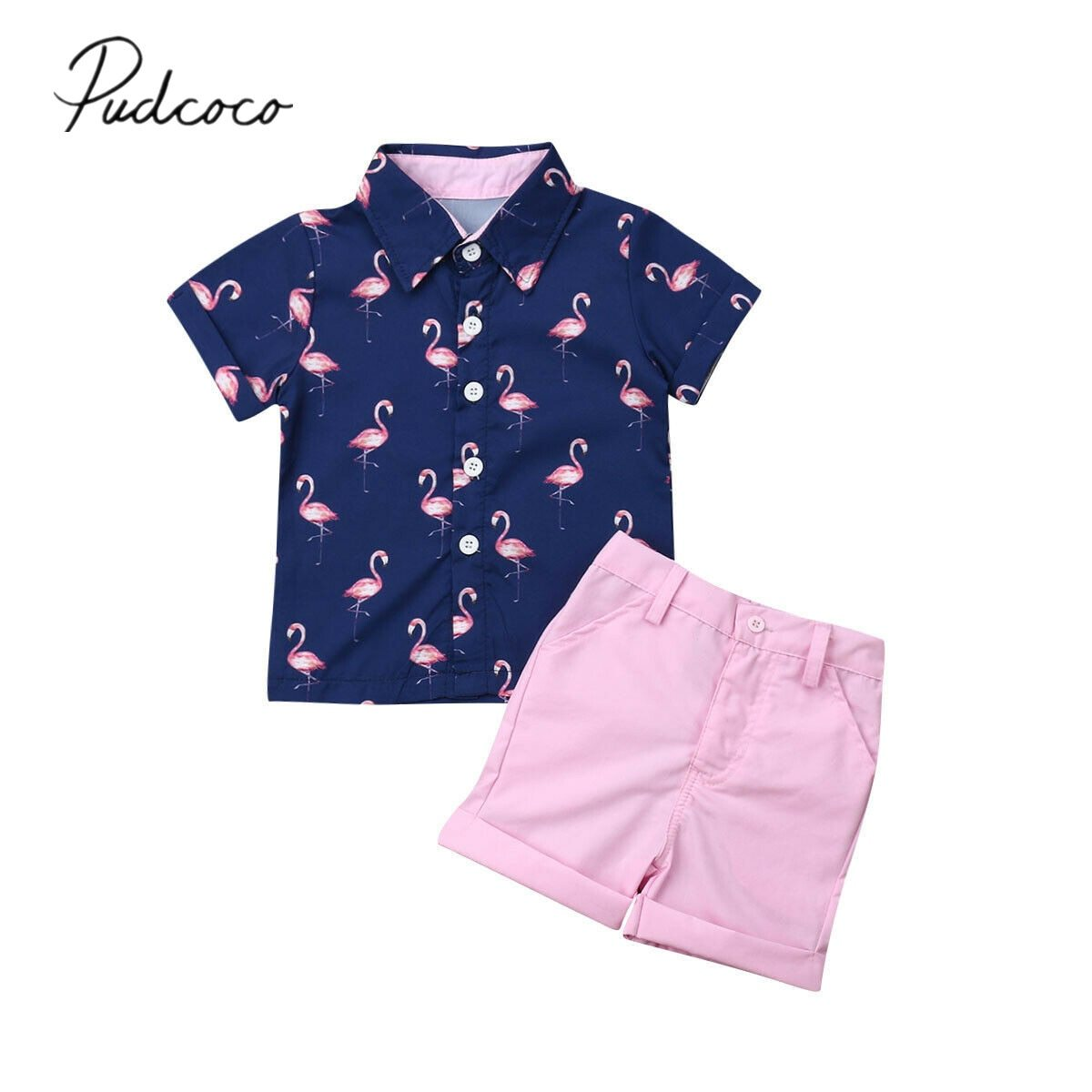 Summer Boy Clothes Toddler Newborn Baby Tops Camouflage Shorts Pants 2Pcs Outfit