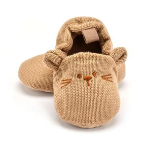 Adorable Infant Slippers Toddler Baby Boy Girl Knit Crib Shoes Cute Cartoon Anti-slip Prewalker Baby Slippers - ShopeeBazar