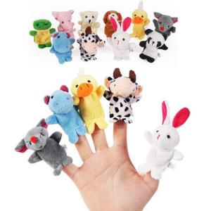 10PCS Cute Cartoon Biological Animal Finger Puppet Plush Toys - ShopeeBazar