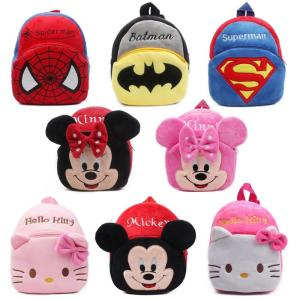 cute cartoon kids plush backpack toy mini school bag - ShopeeBazar