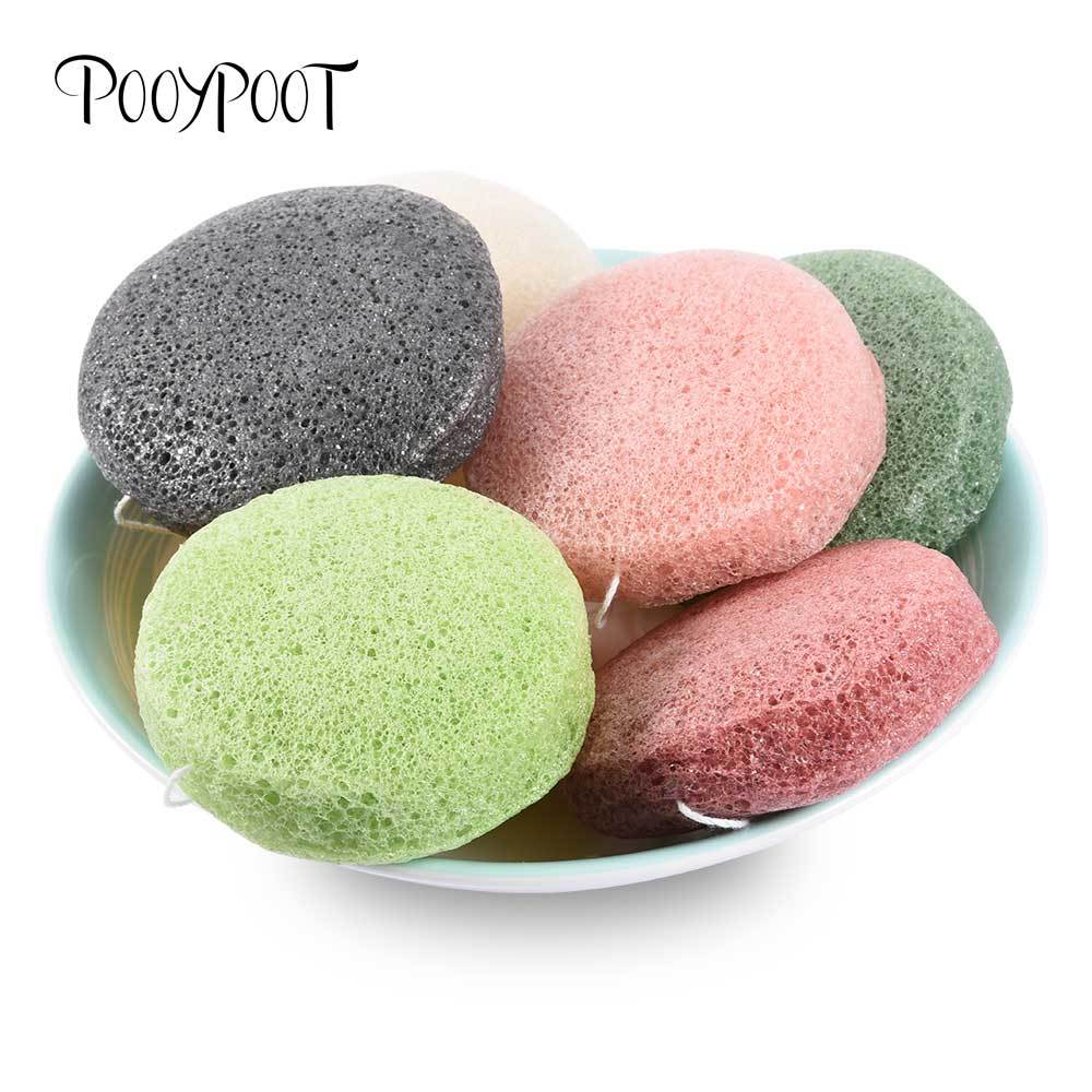 Natural Konjac Sponge Konnyaku Facial Exfoliator Wash Cleansing