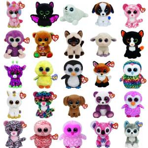Beanie Boos Big Eyes Stuffed Animals Plush Toys - ShopeeBazar